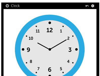 School clock screenshot